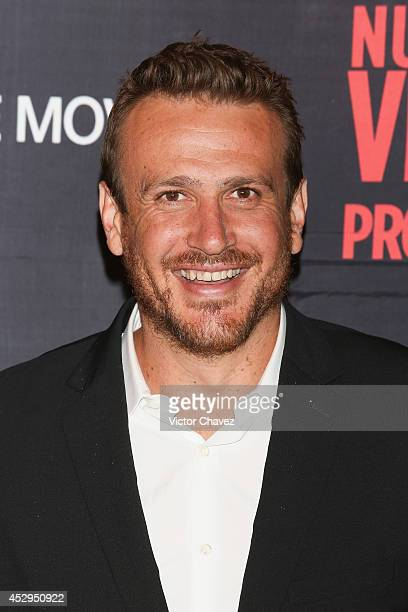 Actor Jason Segel attends the 'Sex Tape' Mexico City premiere red carpet at Cinepolis Universidad on July 30 2014 in Mexico City Mexico