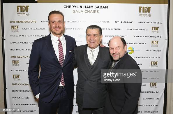 Actor Jason Segel Gala CoChair Haim Saban and actor Jason Alexander attend Friends Of The Israel Defense Forces Western Region Gala at The Beverly...