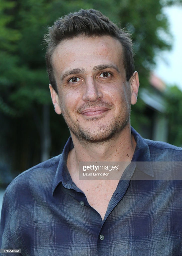 Actor Jason Segel poses at the Sunset Marquis Hotel on August 9, 2013 in West Hollywood, California.
