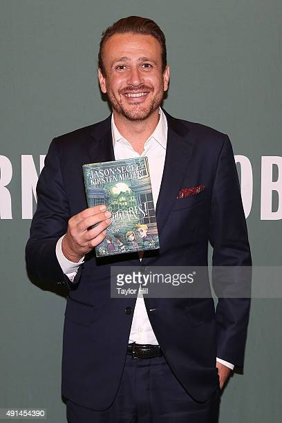 Actor Jason Segel signs copies of his book 'Nightmares The Sleepwalker Tonic' at Barnes Noble Tribeca on October 5 2015 in New York City