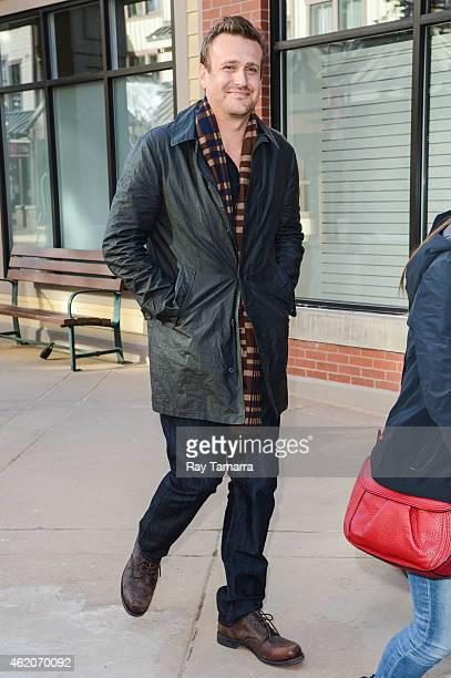 Actor Jason Segel walks in Park City on January 23 2015 in Park City Utah