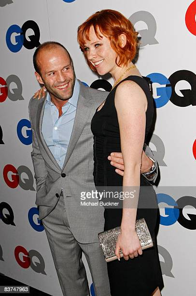 Actor Jason Statham and actress Natalya Rudakova arrive at the GQ Men of the Year party held at the Chateau Marmont Hotel on November 18 2008 in Los...