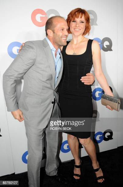 Actor Jason Statham and actress Natalya Rudakova at the GQ Men of the Year party at the Chateau Marmont Hotel on November 18 2008 in Los Angeles...
