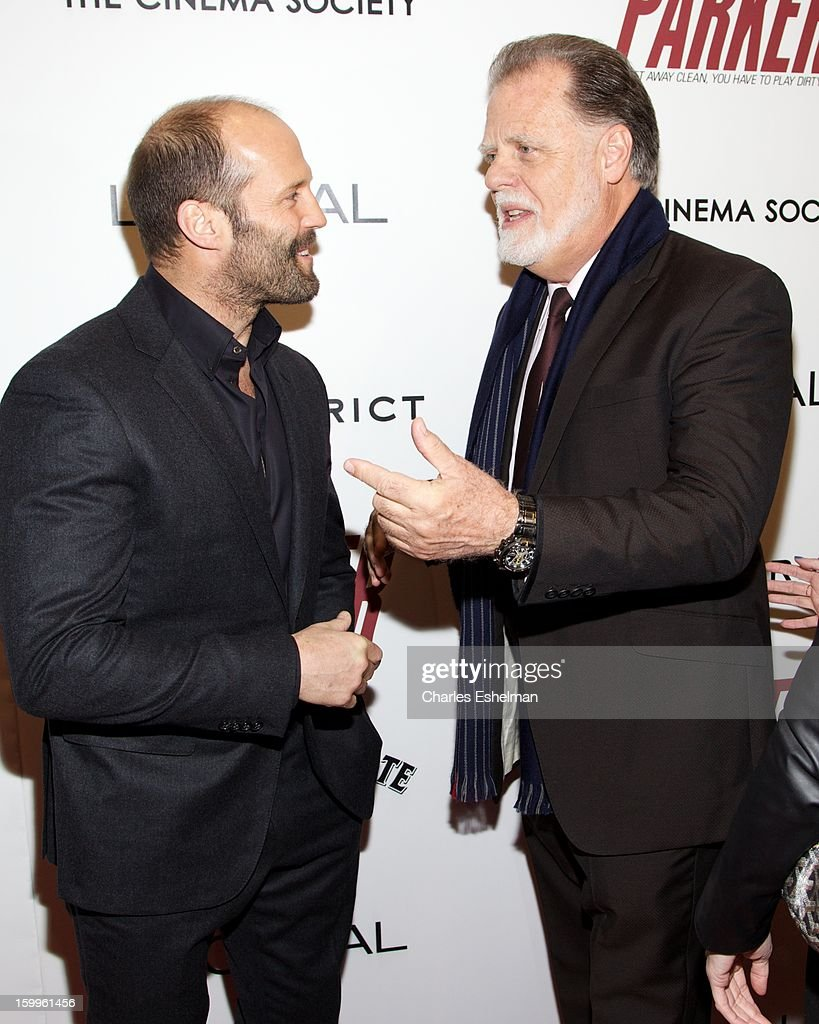 Actor Jason Statham and director Taylor Hackford attend the FilmDistrict with The Cinema Society, L'Oreal Paris & Appleton Estate screening of 'Parker' at The Museum of Modern Art on January 23, 2013 in New York City.