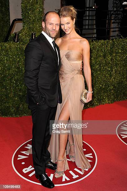 Actor Jason Statham and model / actress Rosie HuntingtonWhiteley arrive at the Vanity Fair Oscar party hosted by Graydon Carter held at Sunset Tower...