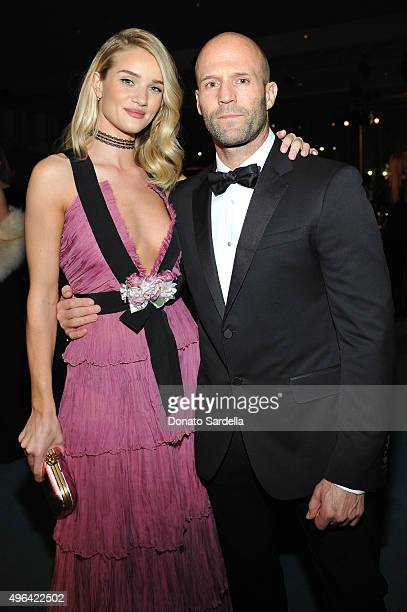 Actor Jason Statham and model Rosie HuntingtonWhiteley attend LACMA 2015 ArtFilm Gala Honoring James Turrell and Alejandro G Iñárritu Presented by...