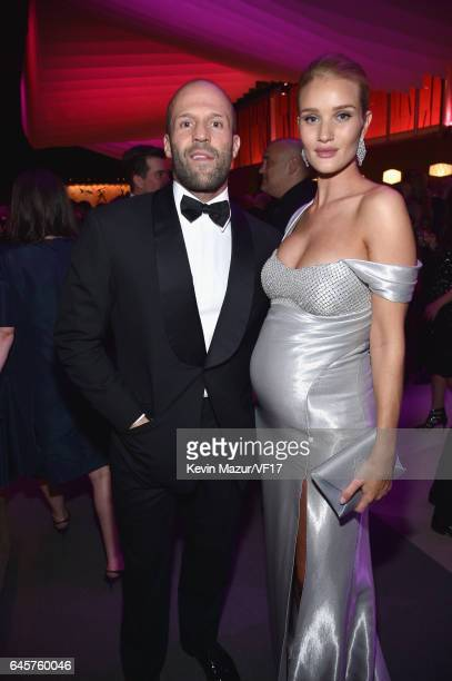 Actor Jason Statham and model Rosie HuntingtonWhiteley attend the 2017 Vanity Fair Oscar Party hosted by Graydon Carter at Wallis Annenberg Center...