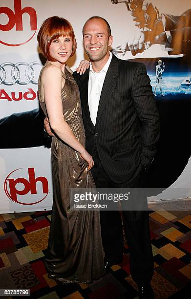 Actor Jason Statham and Natalya Rudakova attend Planet Hollywood Resort Casino's Transporter 3 premiere on November 21 2008 in Las Vegas Nevada