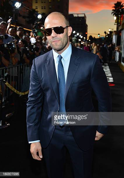 Actor Jason Statham arrives at Lionsgate Films' 'The Expendables 2' premiere on August 15 2012 in Hollywood California