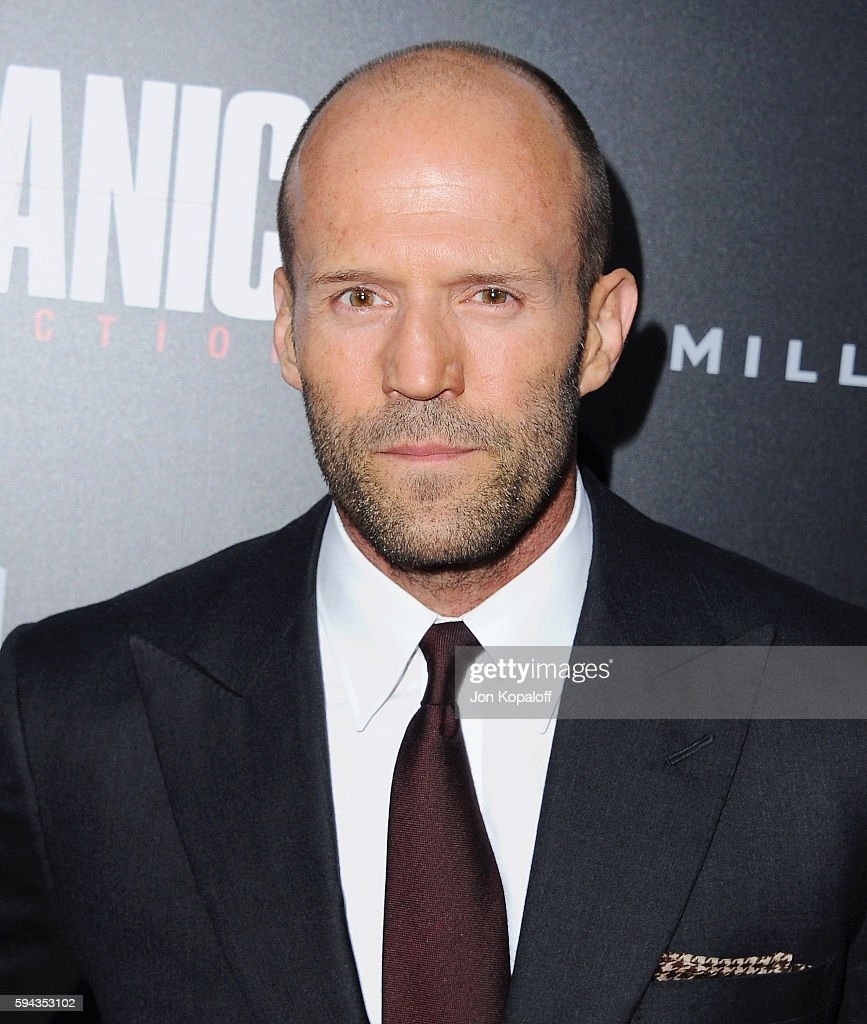 Actor Jason Statham arrives at the Los Angeles Premiere 'Mechanic: Resurrection' at ArcLight Hollywood on August 22, 2016 in Hollywood, California.