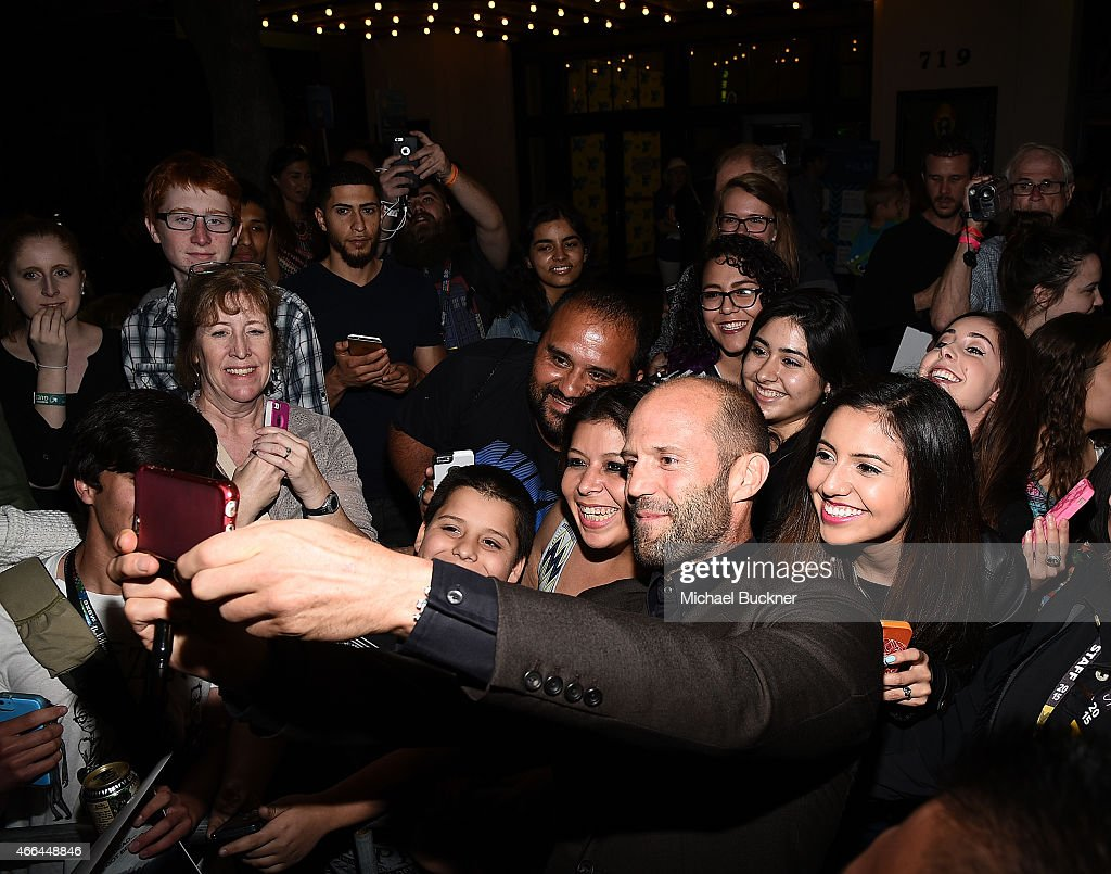 Actor Jason Statham arrives at the premiere of 'Spy' during the 2015 SXSW Music, Film + Interactive Festival at the Paramount on March 15, 2015 in Austin, Texas.