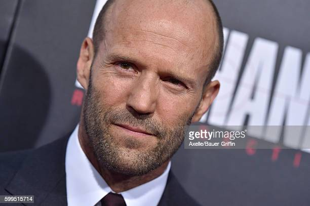 Actor Jason Statham arrives at the premiere of Summit Entertainment's 'Mechanic Resurrection' at ArcLight Hollywood on August 22 2016 in Hollywood...