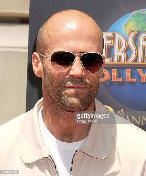 Actor Jason Statham arrives at the premiere of the 'Fast Furious Supercharged' Ride at Universal Studios Hollywood on June 23 2015 in Universal City...