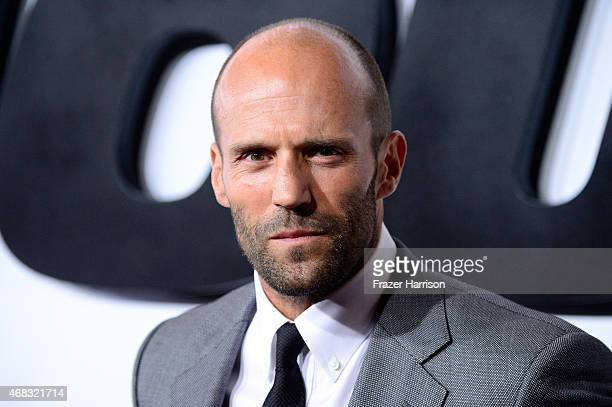 Actor Jason Statham arrives at the Premiere Of Universal Pictures' 'Furious 7' at TCL Chinese Theatre on April 1 2015 in Hollywood California