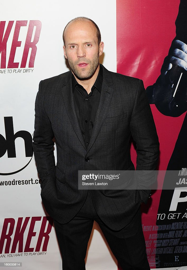 Actor <a gi-track='captionPersonalityLinkClicked' href=/galleries/search?phrase=Jason+Statham&family=editorial&specificpeople=217567 ng-click='$event.stopPropagation()'>Jason Statham</a> arrives for the premiere of FlimDistrict's 'Parker' at the Planet Hollywood Resort & Casino on January 24, 2013 in Las Vegas, Nevada.