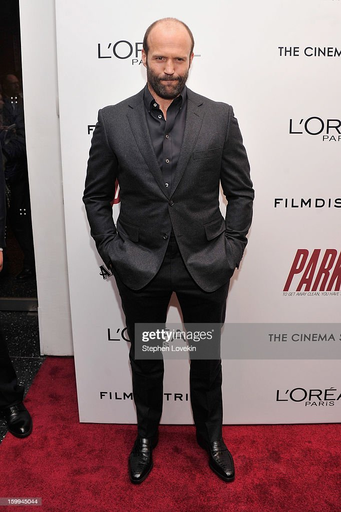 Actor Jason Statham attends a screening of 'Parker' hosted by FilmDistrict, The Cinema Society, L'Oreal Paris and Appleton Estate at MOMA on January 23, 2013 in New York City.