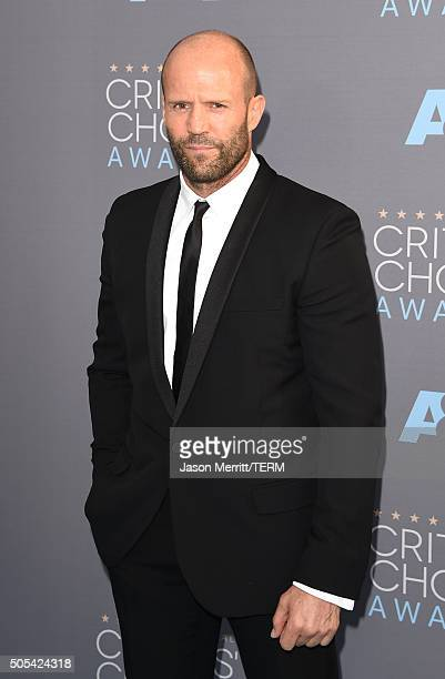 Actor Jason Statham attends the 21st Annual Critics' Choice Awards at Barker Hangar on January 17 2016 in Santa Monica California
