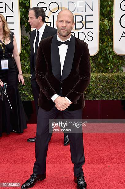 Actor Jason Statham attends the 73rd Annual Golden Globe Awards held at the Beverly Hilton Hotel on January 10 2016 in Beverly Hills California