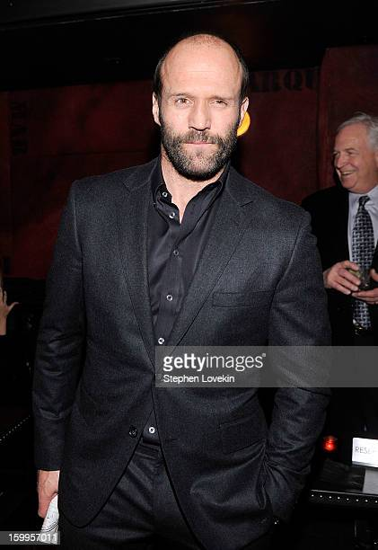 Actor Jason Statham attends the after party for the FilmDistrict with The Cinema Society L'Oreal Paris And Appleton Estate screening Of 'Parker'at...