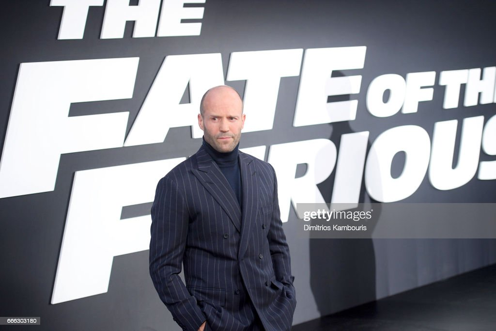 Actor Jason Statham attends 'The Fate Of The Furious' New York Premiere at Radio City Music Hall on April 8, 2017 in New York City.