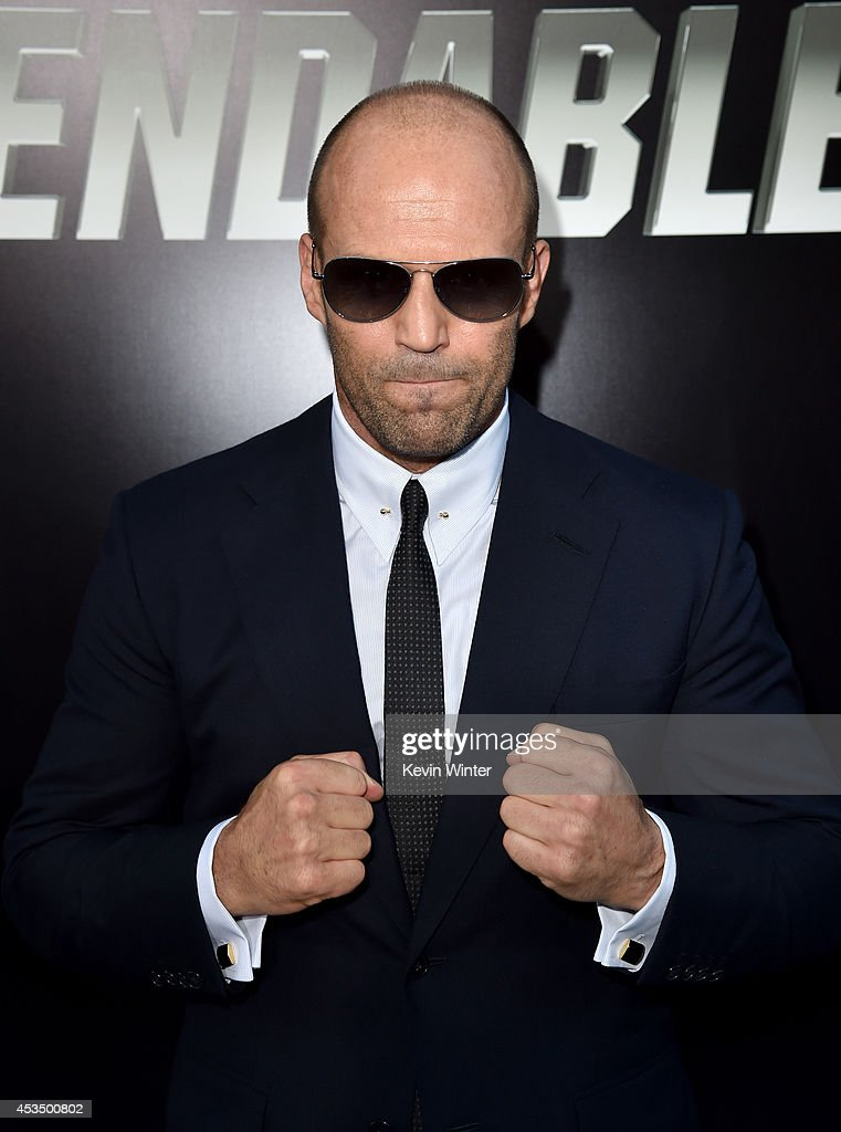Actor <a gi-track='captionPersonalityLinkClicked' href=/galleries/search?phrase=Jason+Statham&family=editorial&specificpeople=217567 ng-click='$event.stopPropagation()'>Jason Statham</a> attends the premiere of Lionsgate Films' 'The Expendables 3' at TCL Chinese Theatre on August 11, 2014 in Hollywood, California.