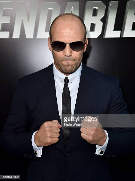 Actor Jason Statham attends the premiere of Lionsgate Films' 'The Expendables 3' at TCL Chinese Theatre on August 11 2014 in Hollywood California