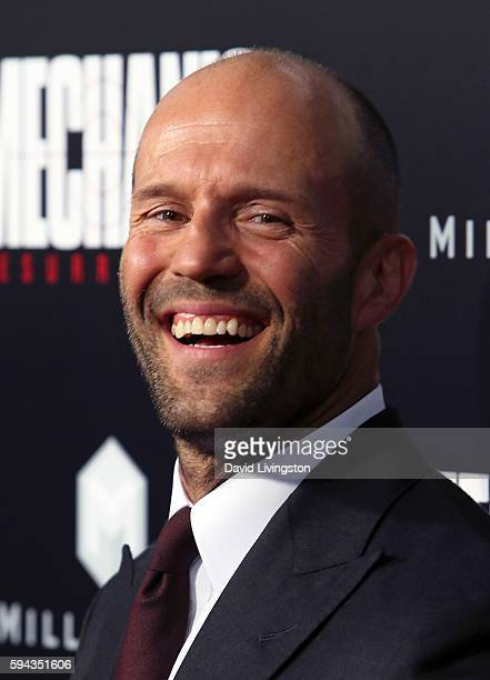 Actor Jason Statham attends the premiere of Summit Entertainment's 'Mechanic Resurrection' at ArcLight Hollywood on August 22 2016 in Hollywood...