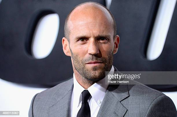 Actor Jason Statham attends Universal Pictures' 'Furious 7' premiere at TCL Chinese Theatre on April 1 2015 in Hollywood California