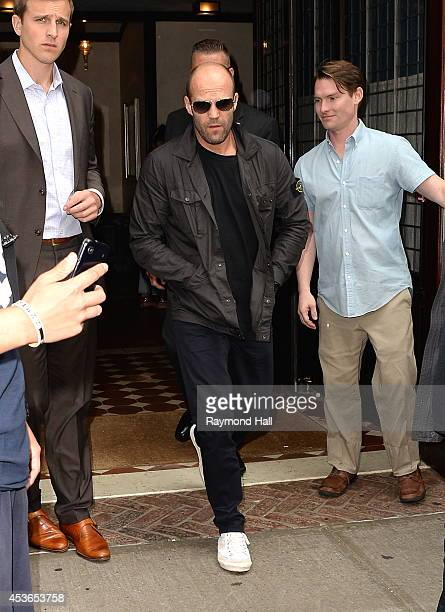 Actor Jason Statham is seen in Soho on August 15 2014 in New York City