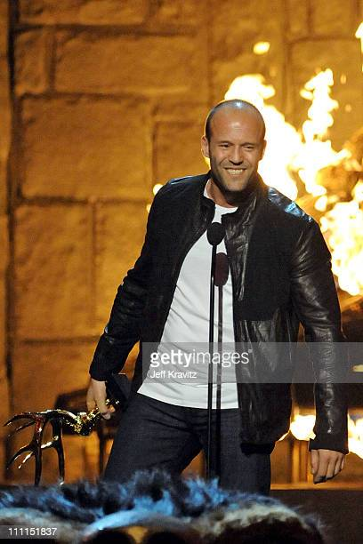 Actor Jason Statham onstage at Spike TV's 2009 'Guys Choice Awards' held at the Sony Studios on May 30 2009 in Los Angeles California