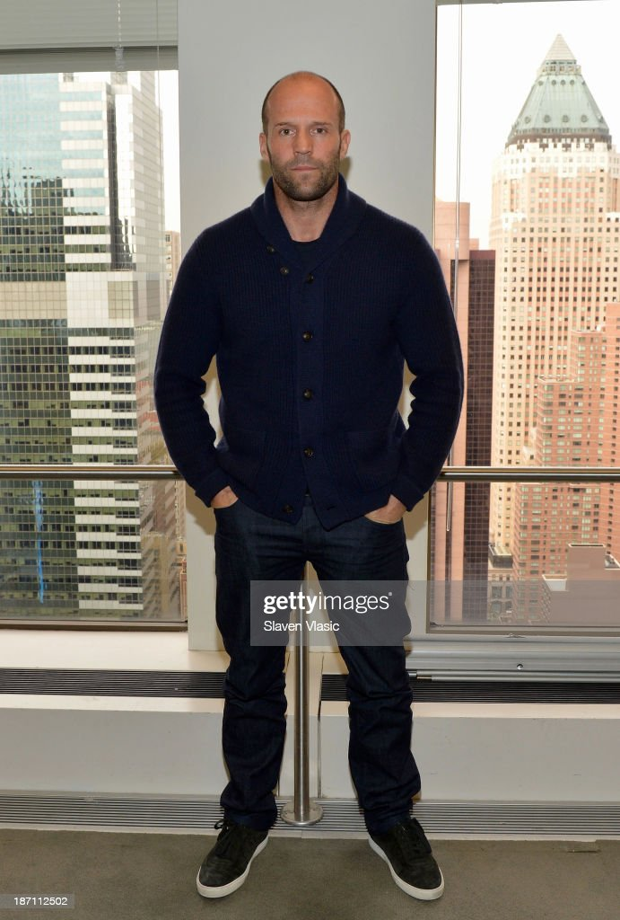 Actor Jason Stratham visits SiriusXM Studios on November 6, 2013 in New York City.