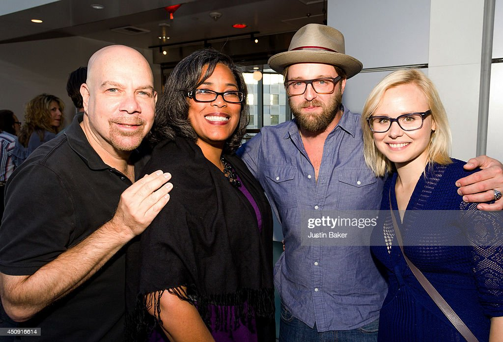 Actor Jason Stuart Darrien Gipson National Director of SAG Indie and actors Josh Leonard and Alison Pill attend the SAGWGA Party during the 2014 Los...