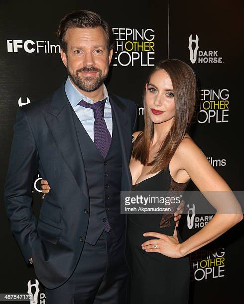 Actor Jason Sudeikis and actress Alison Brie attend the premiere of IFC Films' 'Sleeping With Other People' at ArcLight Cinemas on September 9 2015...