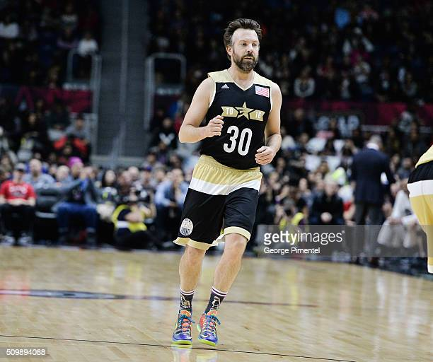 Actor Jason Sudeikis attends the 2016 NBA AllStar Celebrity Game at Ricoh Coliseum on February 12 2016 in Toronto Canada