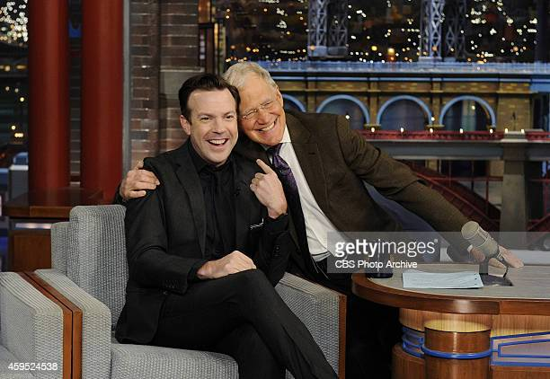 Actor Jason Sudeikis talks about his new film 'Horrible Bosses 2' on the Late Show with David Letterman Monday November 17 2014 on the CBS Television...