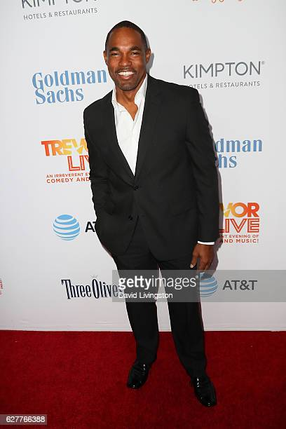 Actor Jason Winston George arrives at the TrevorLIVE Los Angeles 2016 Fundraiser at The Beverly Hilton Hotel on December 4 2016 in Beverly Hills...