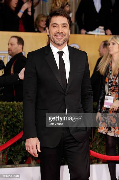 Actor Javier Bardem arrives at the19th Annual Screen Actors Guild Awards held at The Shrine Auditorium on January 27 2013 in Los Angeles California