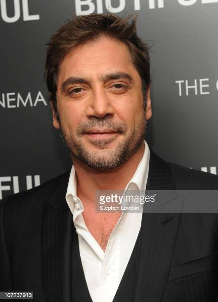 Actor Javier Bardem attends a screening of 'Biutiful' hosted by the Cinema Society with Miuccia Prada Sandra Brant Ingrid Sischy at the Lighthouse...
