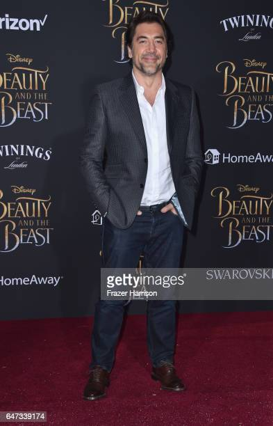 Actor Javier Bardem attends Disney's 'Beauty and the Beast' premiere at El Capitan Theatre on March 2 2017 in Los Angeles California