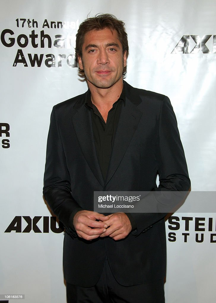Actor <a gi-track='captionPersonalityLinkClicked' href=/galleries/search?phrase=Javier+Bardem&family=editorial&specificpeople=209334 ng-click='$event.stopPropagation()'>Javier Bardem</a> attends the 17th Annual IFP Gotham Awards at Steiner Studios on November 27, 2007 in Brooklyn, NY.