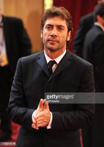 Actor Javier Bardem attends the 80th Annual Academy Awards at the Kodak Theatre on February 24 2008 in Los Angeles California