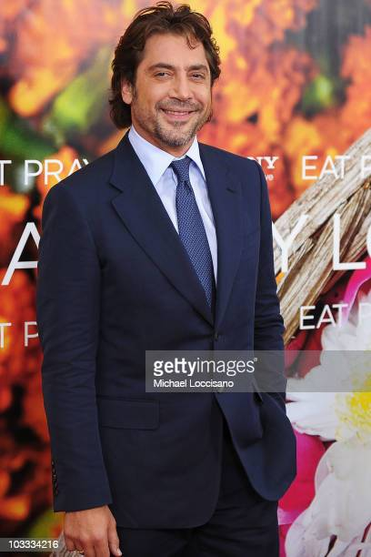 Actor Javier Bardem attends the premiere of 'Eat Pray Love' at the Ziegfeld Theatre on August 10 2010 in New York City