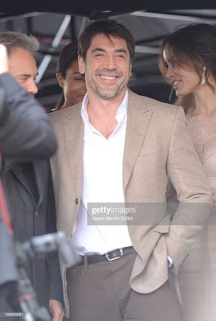 Actor <a gi-track='captionPersonalityLinkClicked' href=/galleries/search?phrase=Javier+Bardem&family=editorial&specificpeople=209334 ng-click='$event.stopPropagation()'>Javier Bardem</a> is honored with a star on the Hollywood Walk Of Fame held on November 8, 2012 in Hollywood, California.