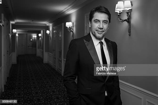 Actor Javier Bardem is photographed for The Hollywood Reporter on May 14 2016 in Cannes France