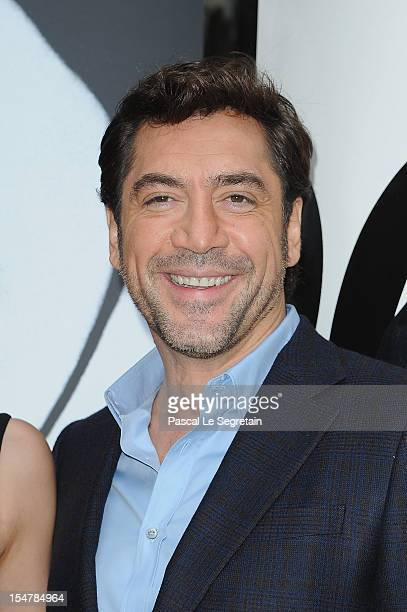 Actor Javier Bardem poses during a photocall for the film 'Skyfall' at Hotel George V on October 25 2012 in Paris France