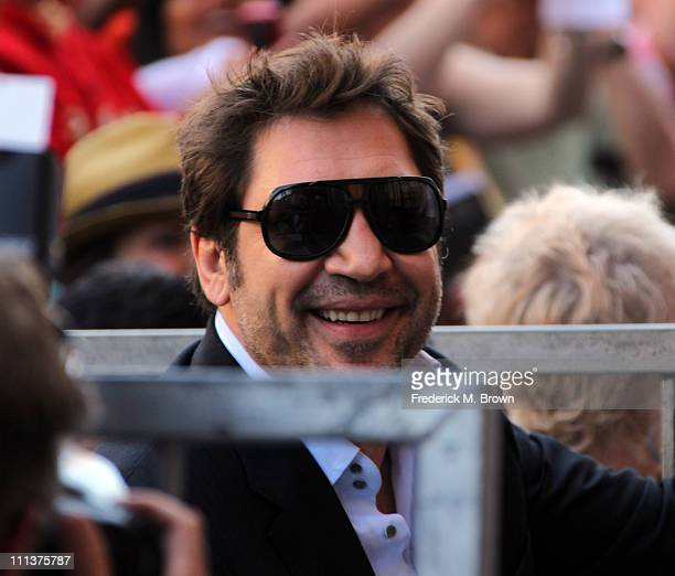 Actor Javier Bardem poses for photographers during the installation ceremony for actress Penelope Cruz's star on the Hollywood Walk of Fame on April...