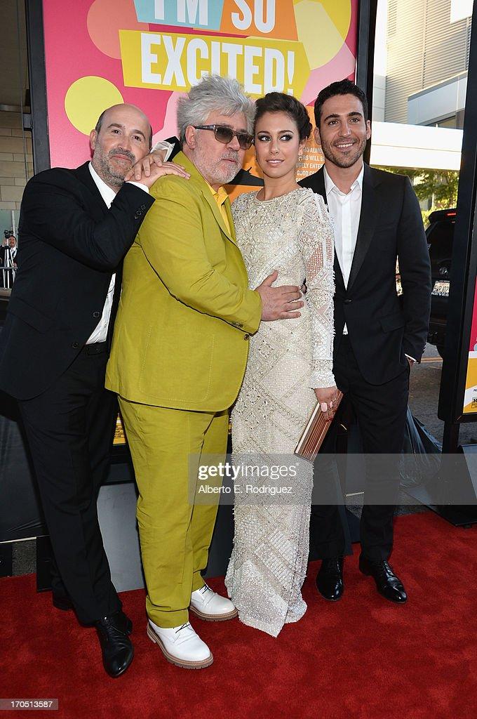 Actor Javier Camara director Pedro Almodovar actors Blanca Suarez and Miguel Angel Silvestre arrive at the 2013 Los Angeles Film Festival Opening...