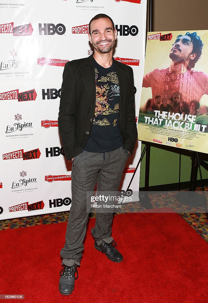 Actor Javier Munoz attends the premiere of the 'The House That Jack Built' at AMC Empire 25 theater on October 2, 2013 in New York City.