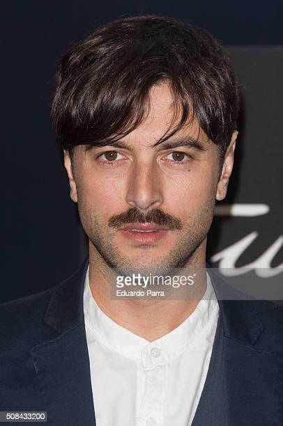 Actor Javier Rey attends Emidio Tucci fashion show photocall on February 4 2016 in Madrid Spain