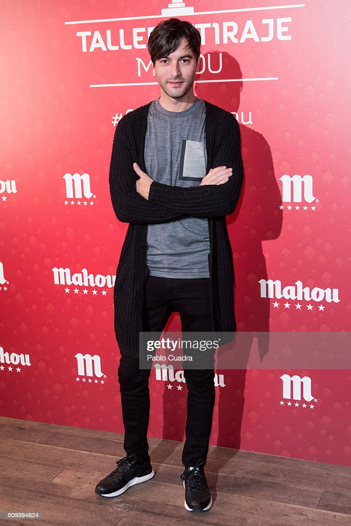 Actor Javier Rey attends Mahou campaign on February 10, 2016 in Madrid, Spain.